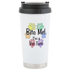Bite Me I'm A Vet Tech - Ceramic Travel Mug