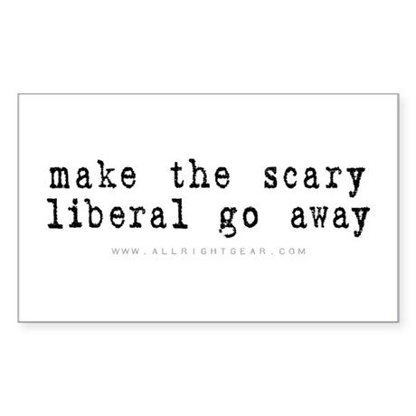 Scary Liberal Rectangle Sticker