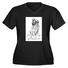Mastiff You Talkin To Me? Women's Plus Size V-Neck