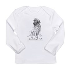 Mastiff You Talkin To Me? Long Sleeve Infant T-Shi