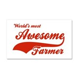 World's Most Awesome Farmer Car Magnet 20 x 12