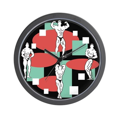 """Bodybuilders"" Wall Clock"