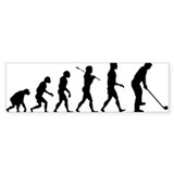 Golf Evolution Bumper Sticker