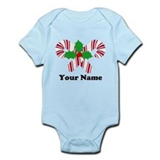 Personalized Candy Canes Onesie