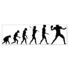 Quarterback Evolution of Foot Bumper Sticker