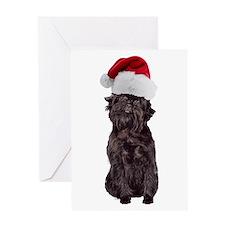 Affenpinscher Santa Greeting Card