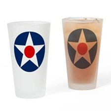 US Army Air Corps Roundel (1926) Drinking Glass