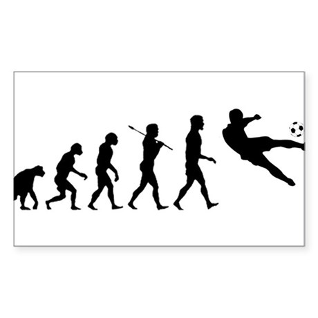 Viva La Evolucion De Futbol Sticker (Rectangle)