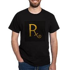 Gold Elegance 17 Black T-Shirt