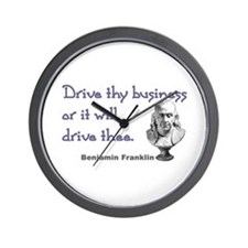 Drive thy business Wall Clock