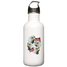 Eagles and Flags Water Bottle