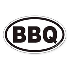 BBQ Euro Oval Decal