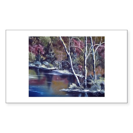 Aspen Reflections Rectangle Sticker