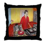 El DJ Booth Throw Pillow