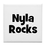 Nyla Rocks Tile Coaster