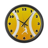 Large Tennis Wall Clock Sun