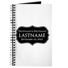 Personalized Wedding Nameplat Journal