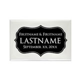 Personalized Wedding Nameplat Rectangle Magnet (10
