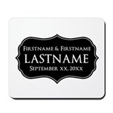 Personalized Wedding Nameplat Mousepad