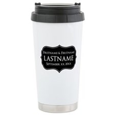 Personalized Wedding Nameplat Ceramic Travel Mug