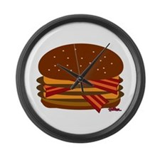 Bacon Triple Cheese! Large Wall Clock