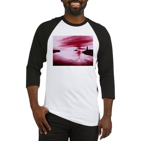 Lighthouse Sunset Baseball Jersey