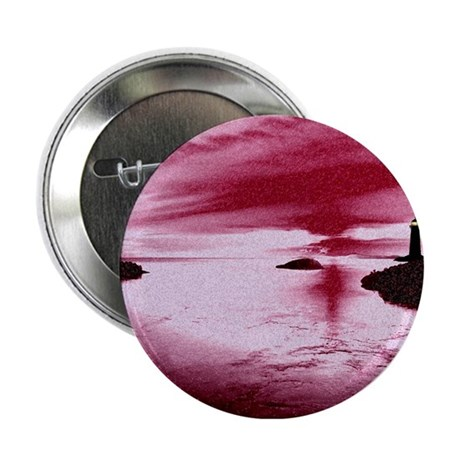 "Lighthouse Sunset 2.25"" Button (10 pack)"