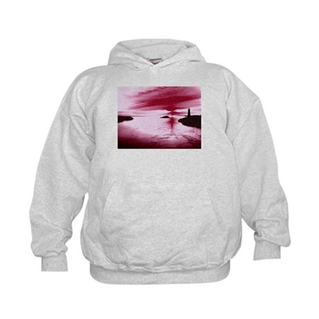Lighthouse Sunset Kids Hoodie