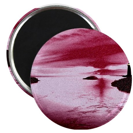 "Lighthouse Sunset 2.25"" Magnet (10 pack)"