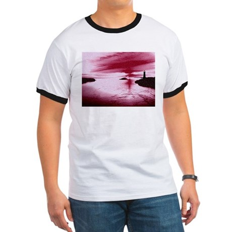 Lighthouse Sunset Ringer T