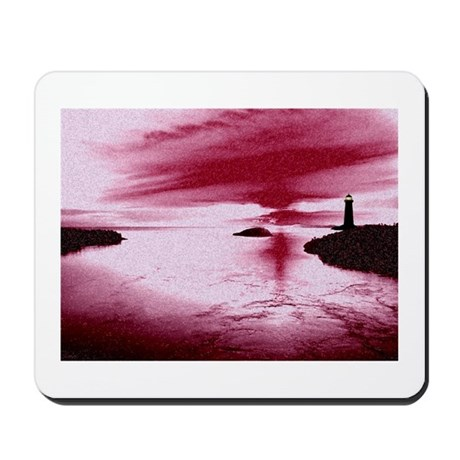 Lighthouse Sunset Mousepad