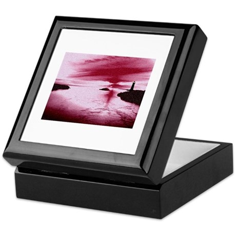 Lighthouse Sunset Keepsake Box
