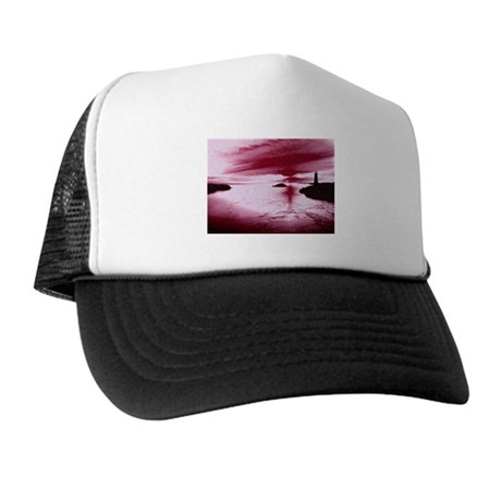 Lighthouse Sunset Trucker Hat