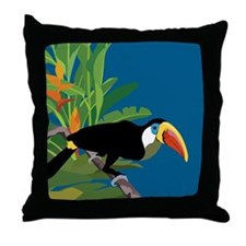 Toucan Jungle Throw Pillow