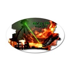 war of the worlds 22x14 Oval Wall Peel