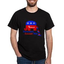 Democrats Exhaust Me  Black T-Shirt