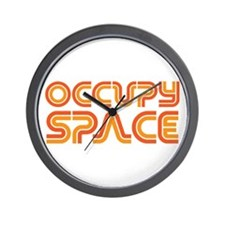 Occupy Space Wall Clock