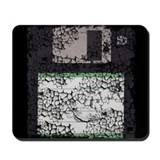 Worn, Floppy Disk Mousepad