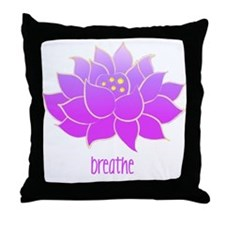 Breathe Lotus Throw Pillow