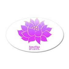 Breathe Lotus 38.5 x 24.5 Oval Wall Peel