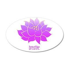Breathe Lotus 38.5 x 24.5 Oval Wall Peel