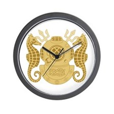 Navy Diving Officer Wall Clock