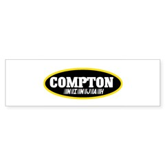 COMPTON NINJAH WEAR Sticker (Bumper 10 pk)