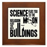 Science Vs. Religion Framed Tile