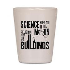 Science Vs. Religion Shot Glass