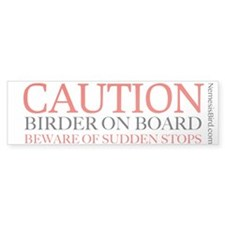 Birder on Board bumper sticker
