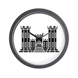 Engineer Branch Insignia - B-W Wall Clock