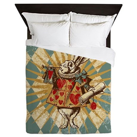 Alice Rabbit Duvet - Queen