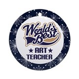 Art Teacher Gift Ornament (World's Best)
