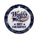 Art Therapist Ornament Gift (World's Best)